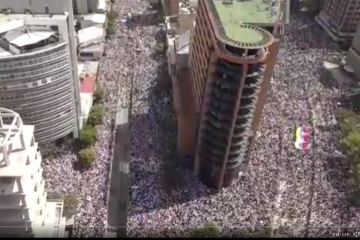 Protesta en las calles de Chacao, Caracas, 23.1.2019 | Captura de pantalla
