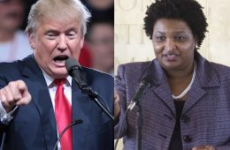 Donald Trump, Stacey Abrams | Fotos: Flickr y Wikicommons