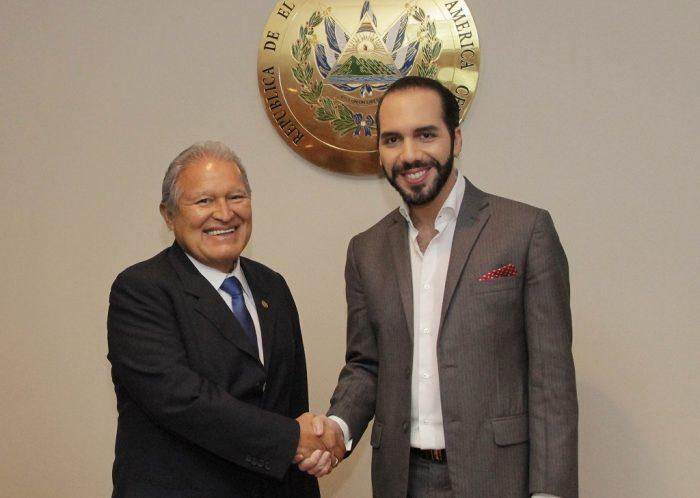 El presidente saliente, Salvador Sánchez Cerén, y el entrante, Nayib Bukele | Foto: WikiCommons.