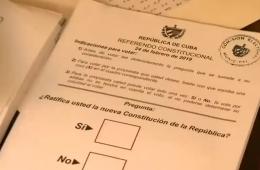 Hoja de votación del referendo constitucional en Cuba, 25.2.2019   Captura de pantalla