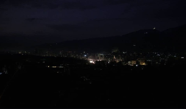 Apagón eléctrico en Caracas | Captura de pantalla