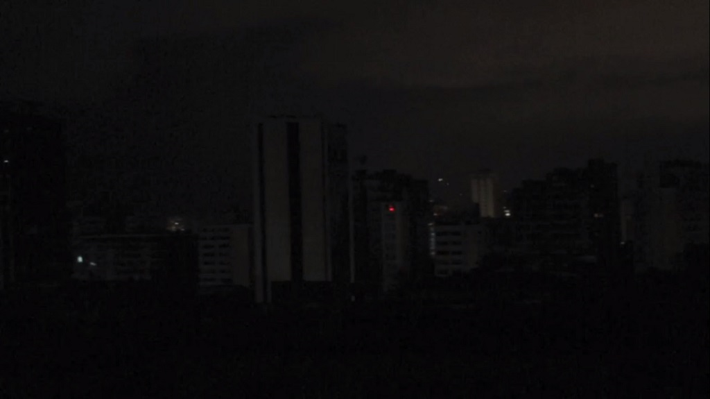Caracas en penumbras | Foto: Captura de pantalla
