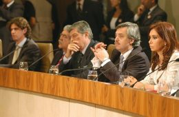 Alberto Fernández y Cristina Fernández., nov. 2007 | Foto de archivo, Presidencia de la Nación, Argentina