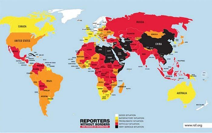 Libertad-de-prensa-en-el-mundo, 2019 |_Fuente: Reporteros-sin-fronteras