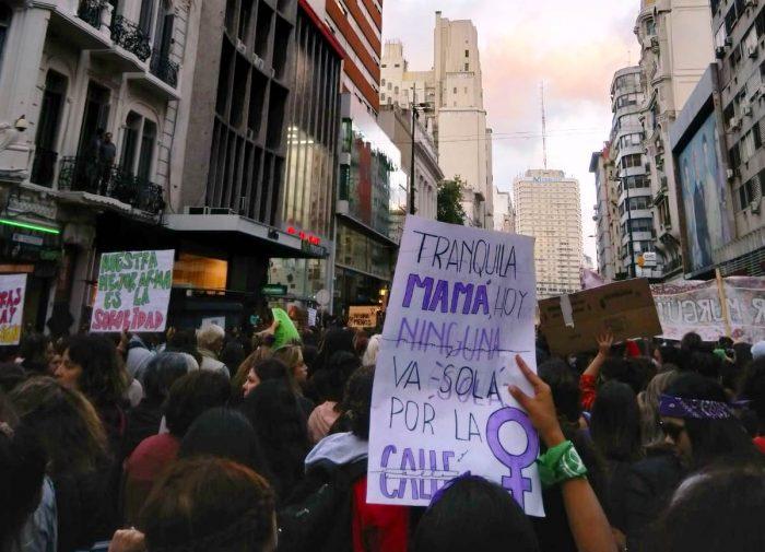 Marcha en el Día de la Mujer. Buenos Aires, 8 de marzo de 2018 | Foto: Lea Schütz