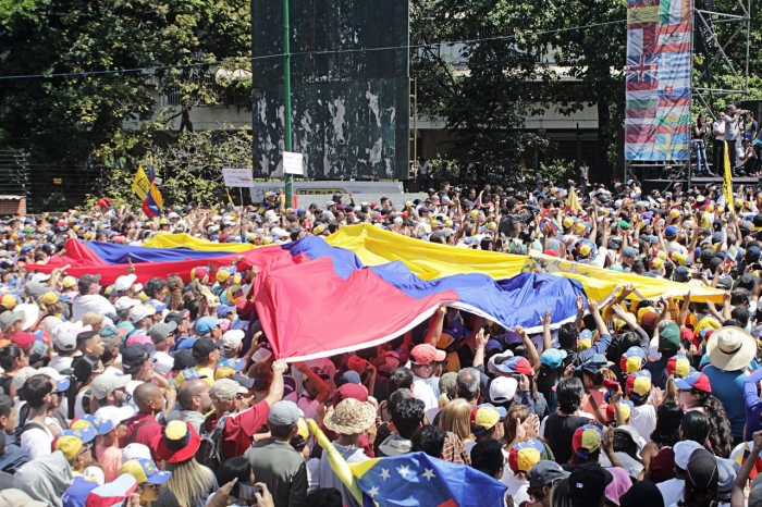 Marcha de protesta contra Maduro, 2 de febrero de 2019, Caracas | Foto: Alex Abello Leiva