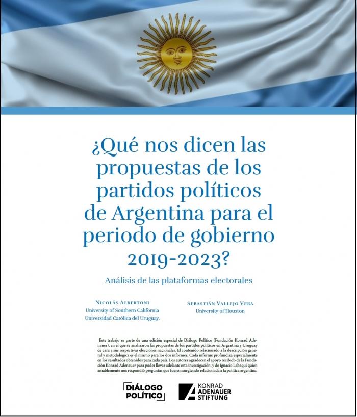 ¿Qué nos dicen las propuestas de los partidos políticos de Argentina para el periodo de gobierno 2019-2023?