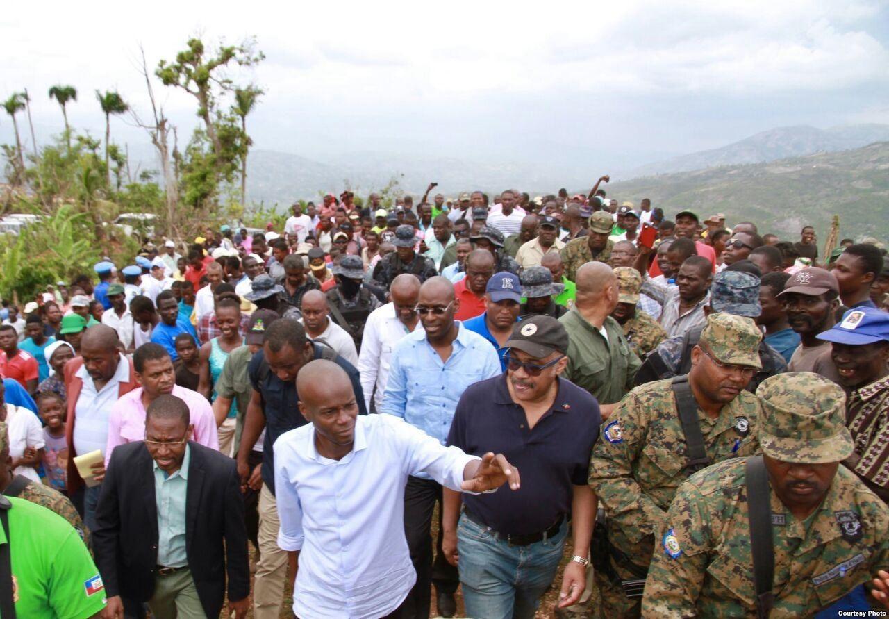 Presidente haitiano visita Jérèmie. Foto cortesía