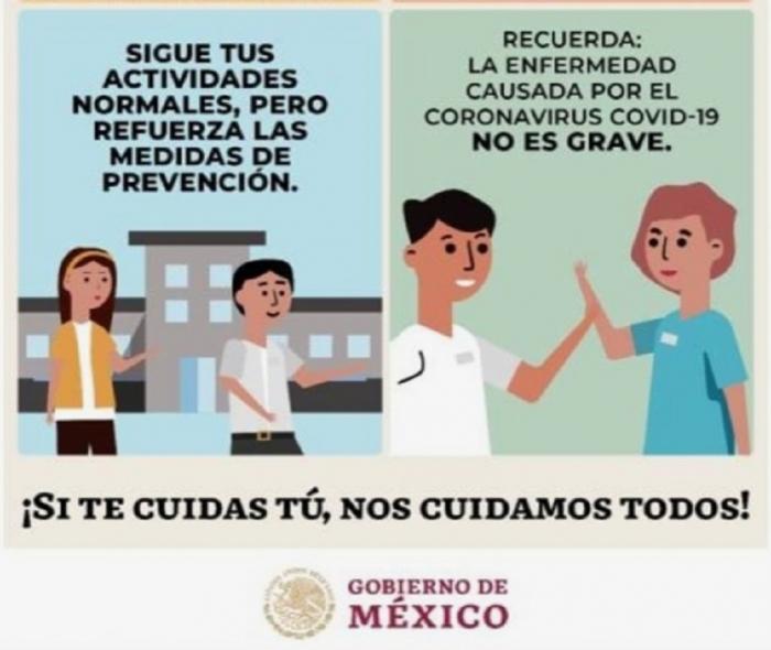 Cartel del Gobierno de México sobre el coronavirus (detalle) | Fuente: Gobierno de México
