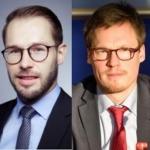 Dr. Robert Helbig y Johannes Hügel