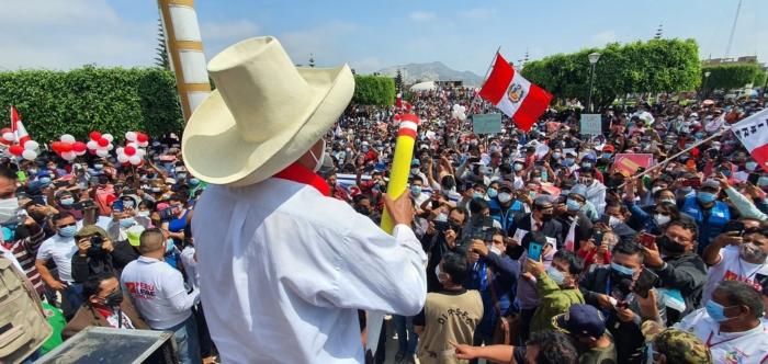 Acto de campaña en Trujillo | Foto: Twitter/@PedroCastilloTe